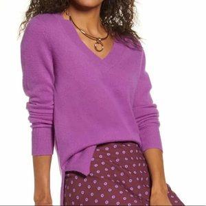 NWT Halogen 100% Cashmere V-Neck Sweater